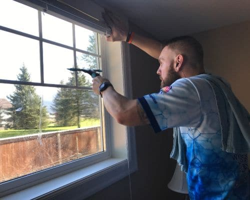 detailing a home window in the Fraser Valley.